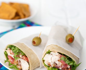Chicken Caesar Salad Wrap with Bacon