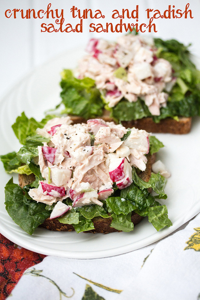 Crunchy Tuna and Radish Salad Sandwich Recipe