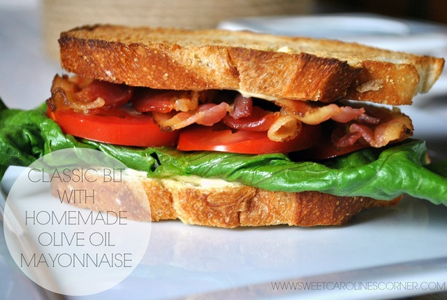 Classic BLT with Homemade Olive Oil Mayonnaise