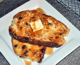 Breakfast Series: Raisin Bread French Toast