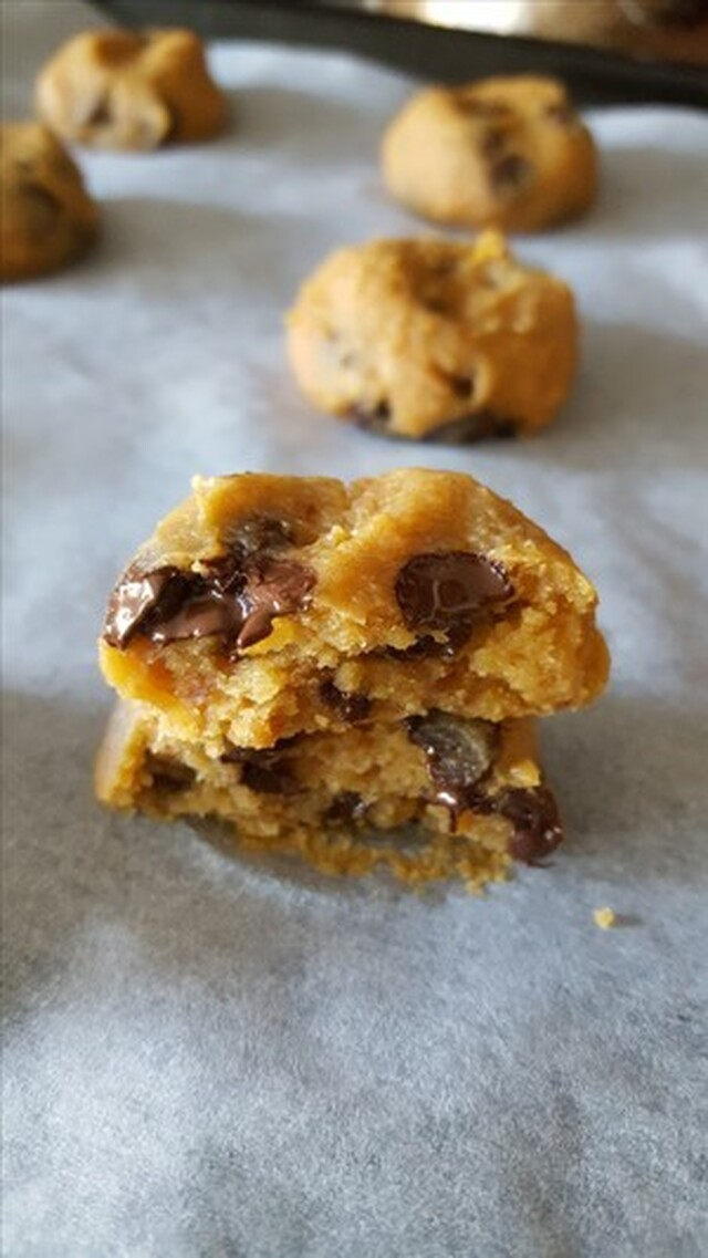 Cookie dough Peanutbutter cookie - veganstyle