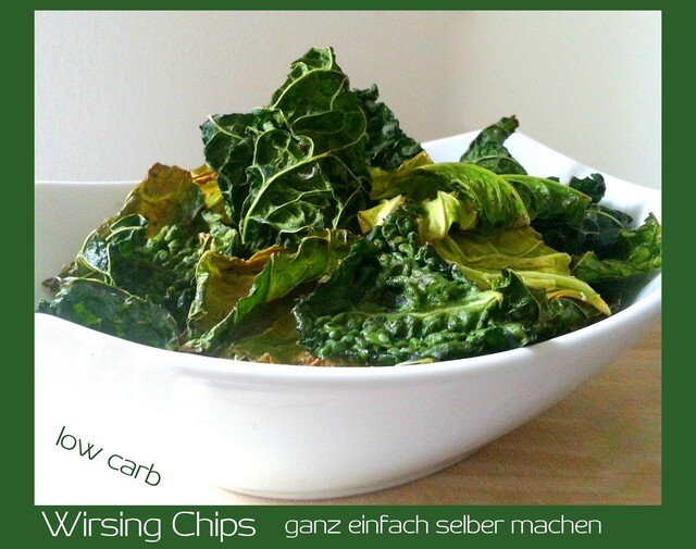 Wirsingchips selber machen low carb
