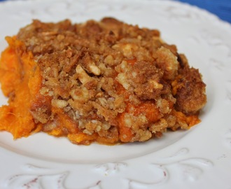 Sweet Potatoes with Coconut Pecan Crumble