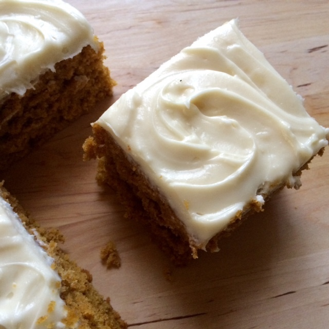 Pumpkin Cake with Maple Cream Cheese Frosting + Happy Anniversary