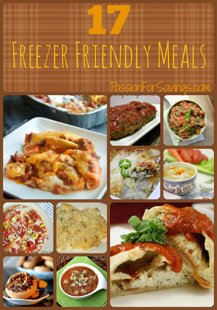 17 Freezer Friendly Meals Your Family will Love!