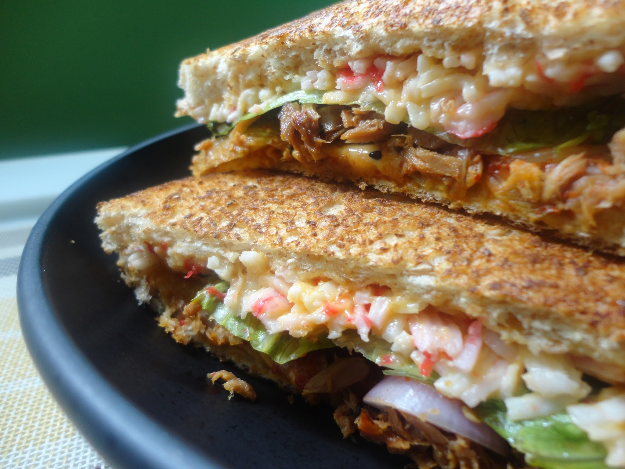Lazy Tuesday: The Ultimate Seafood Kimchi Melt Sandwich