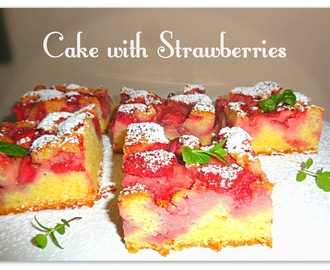 Proste ciasto z truskawkami - Cake with Strawberries