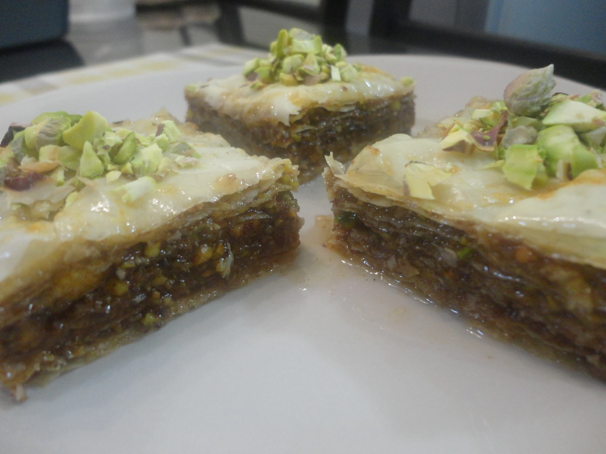 Finally, my PISTACHIO BAKLAVA