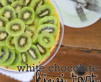 White Chocolate and Kiwi Tart