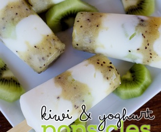 Kiwi and Yoghurt Popsicles