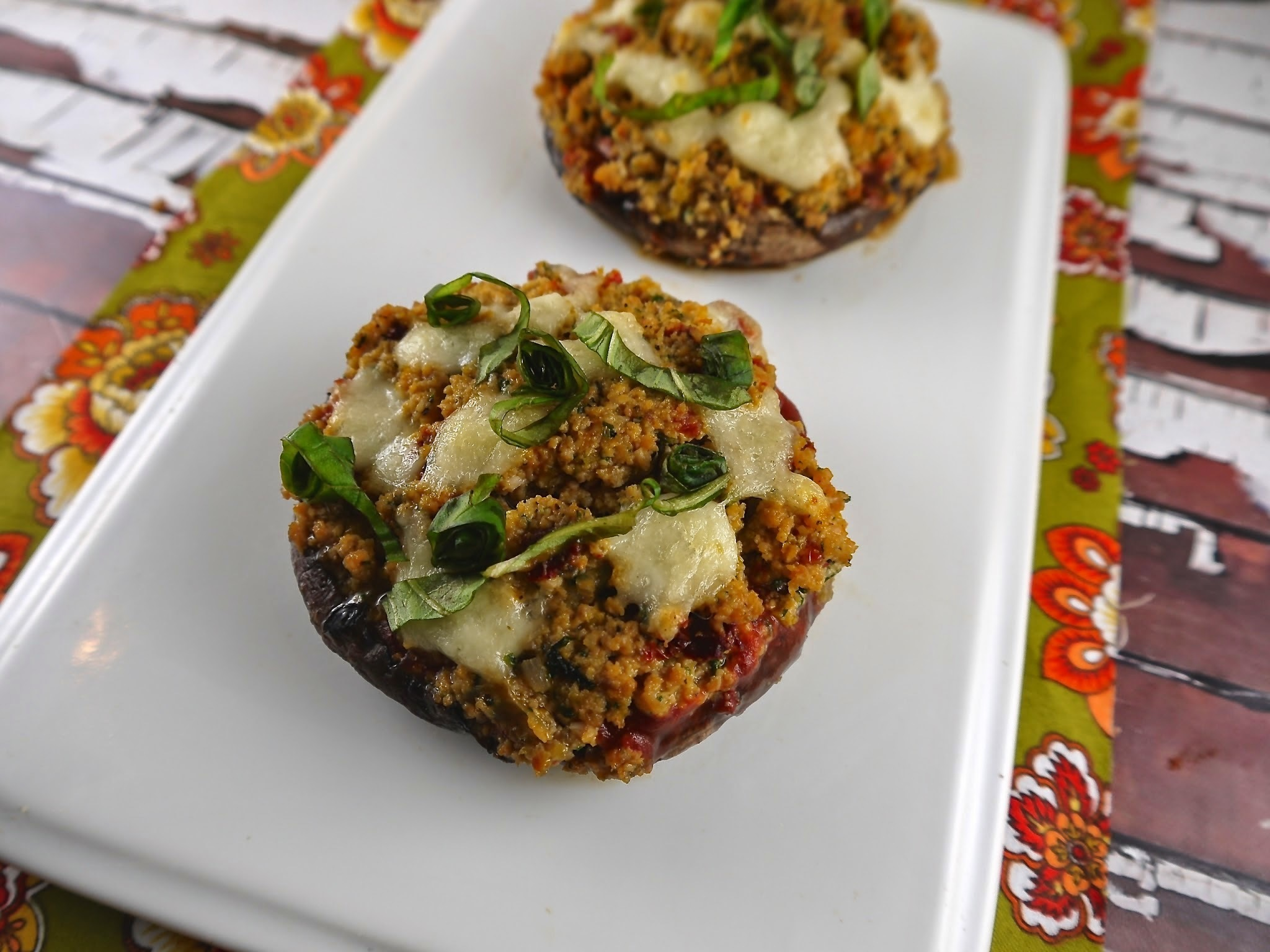 Paleo Italian Stuffed Mushrooms