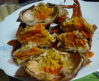 Crabs with Butter Garlic Vinegar Sauce