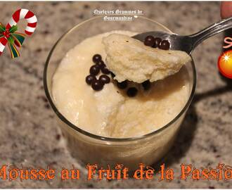 Mousse au fruit de la passion