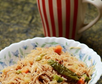 Semiya upma / Vermicelli upma / easy breakfast recipe