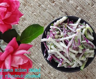 Jicama asian salad
