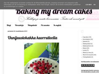Baking my dream cakes