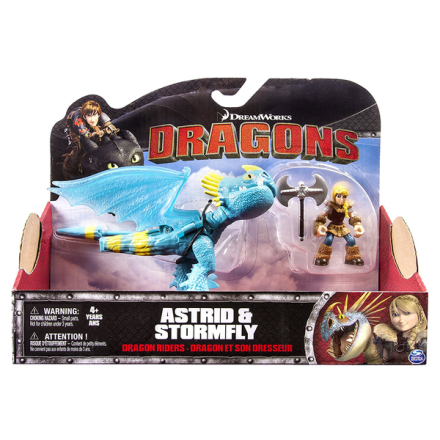Dragons dragon riders astrid & stormfly figures