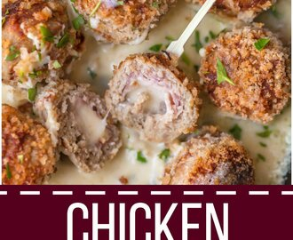 Chicken Cordon Bleu Meatballs