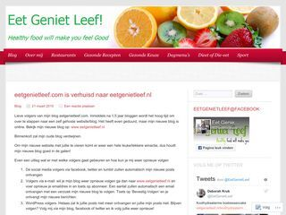 Eet Geniet Leef! | Healthy food will make you feel good!