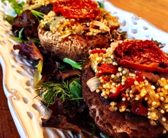Meatless Monday: Veggie Burger & Quinoa Stuffed Portobello Mushrooms