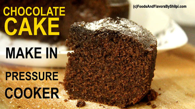 Chocolate Cake In Pressure Cooker – How to make Eggless Cooker Cake