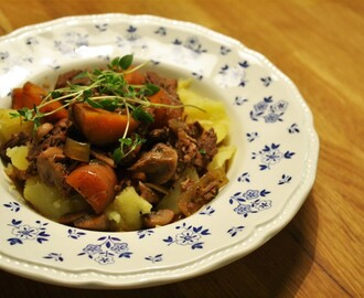 Boeuf  Bourguignon i Crock Pot (slow cooker)