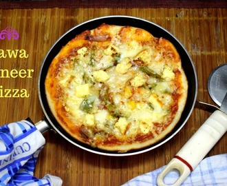 Tawa Paneer Pizza | How to make Pizza without Oven
