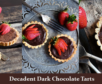 The Best Decadent Chocolate Tarts