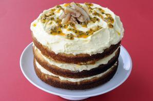 Coconut Passion Fruit Cake