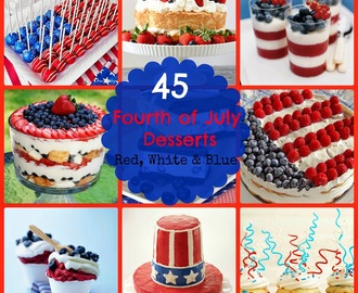 45 Red, White, & Blue Fourth of July Desserts