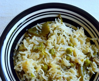 Peas Pulao Recipe | Simple Lunch box Recipe