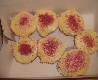 Red velvet cupcakes, another Nigella recreation.