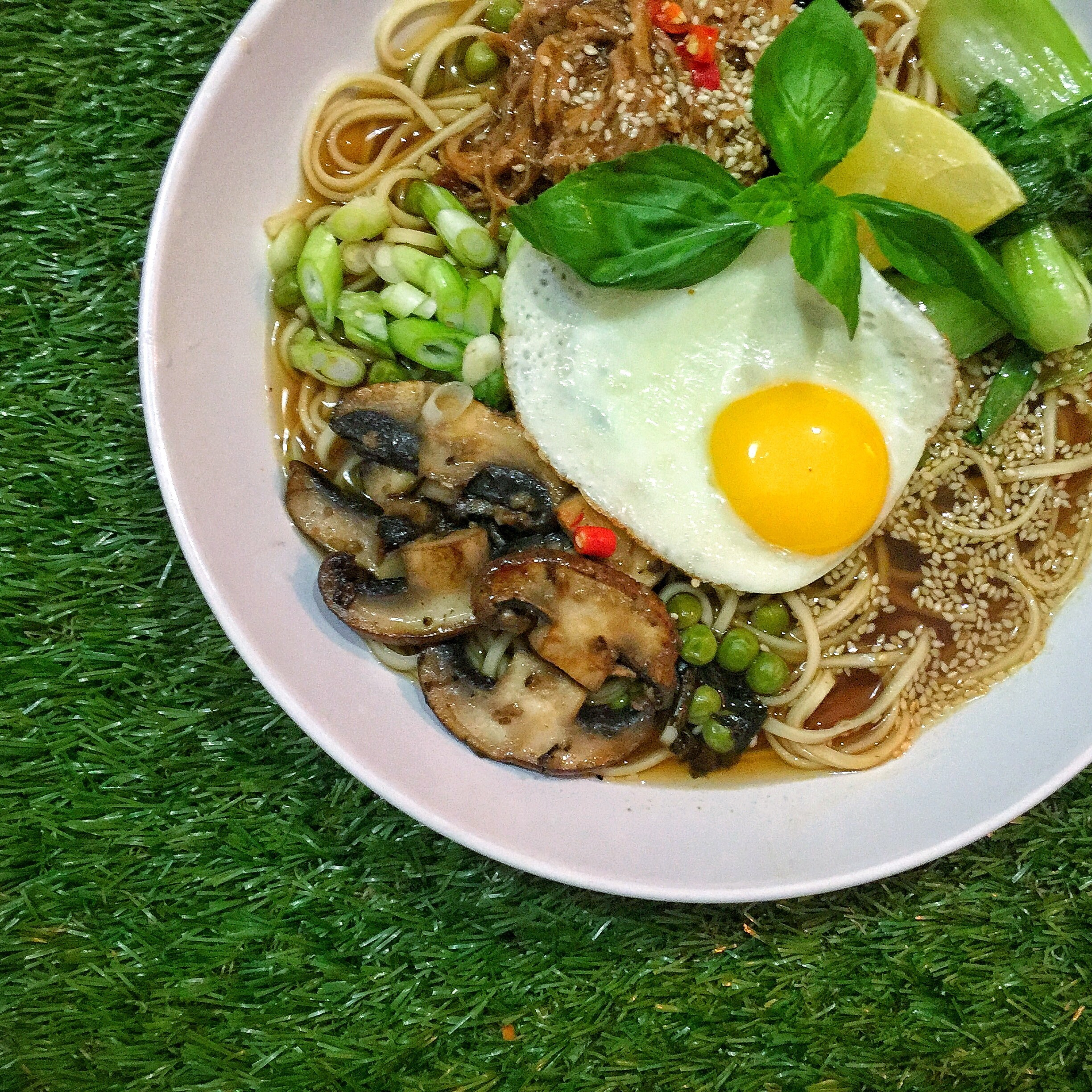 Lemongrass Ramen with Pak Choi & Shiitake