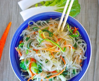 Gluten Free Vegetable Stir Fry Noodles (Chap Chae)