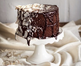 Dark Chocolate and Coconut Ganache cake (Gluten and Dairy-free)