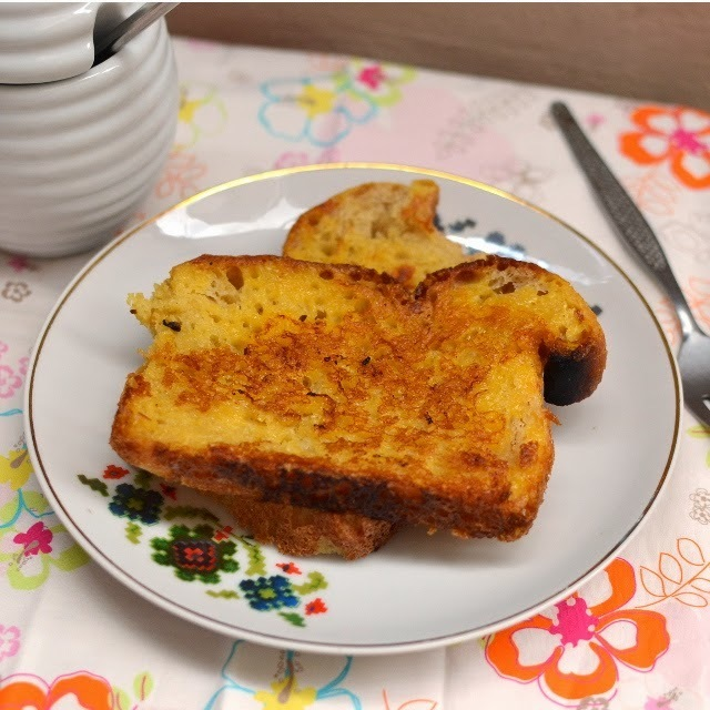 Eggless French Toast (with Custard powder)
