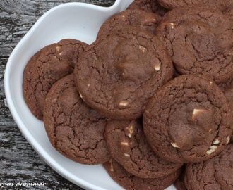 Chocolate chip cookies med vit choklad