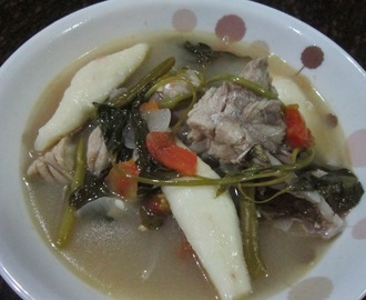 SINIGANG na ULO ng LAPULAPU na may SQUID ROLL