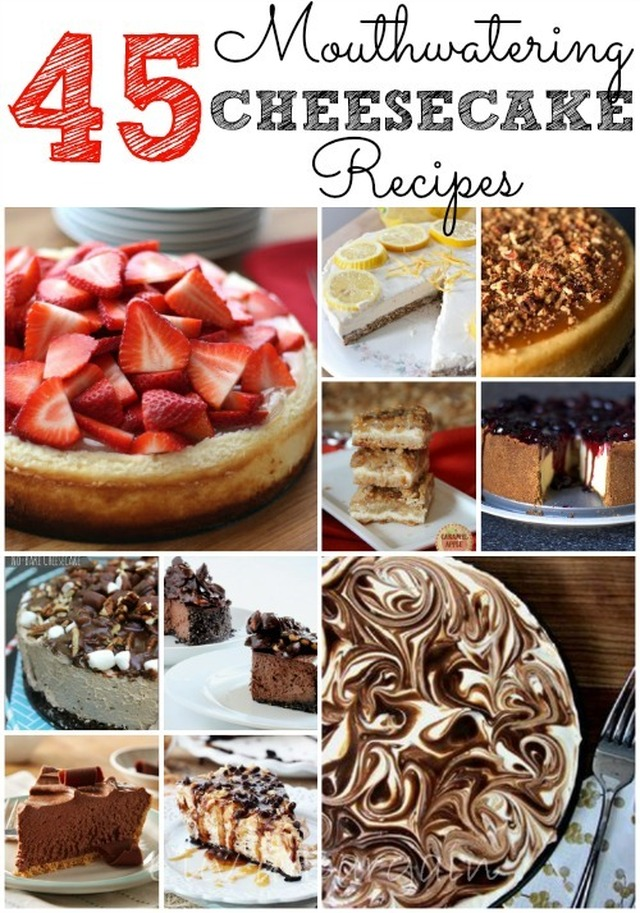 45 Mouthwatering Cheesecake Recipes