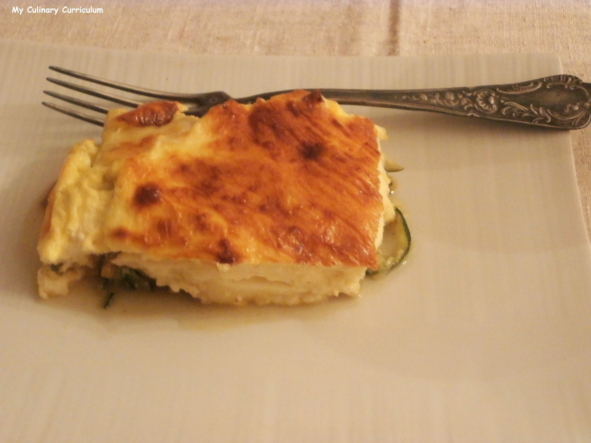 Gratin de courgettes et endives au camembert (Zucchini and endives gratin with Camembert)