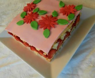 Fraisier facile (easy french strawberry cake)