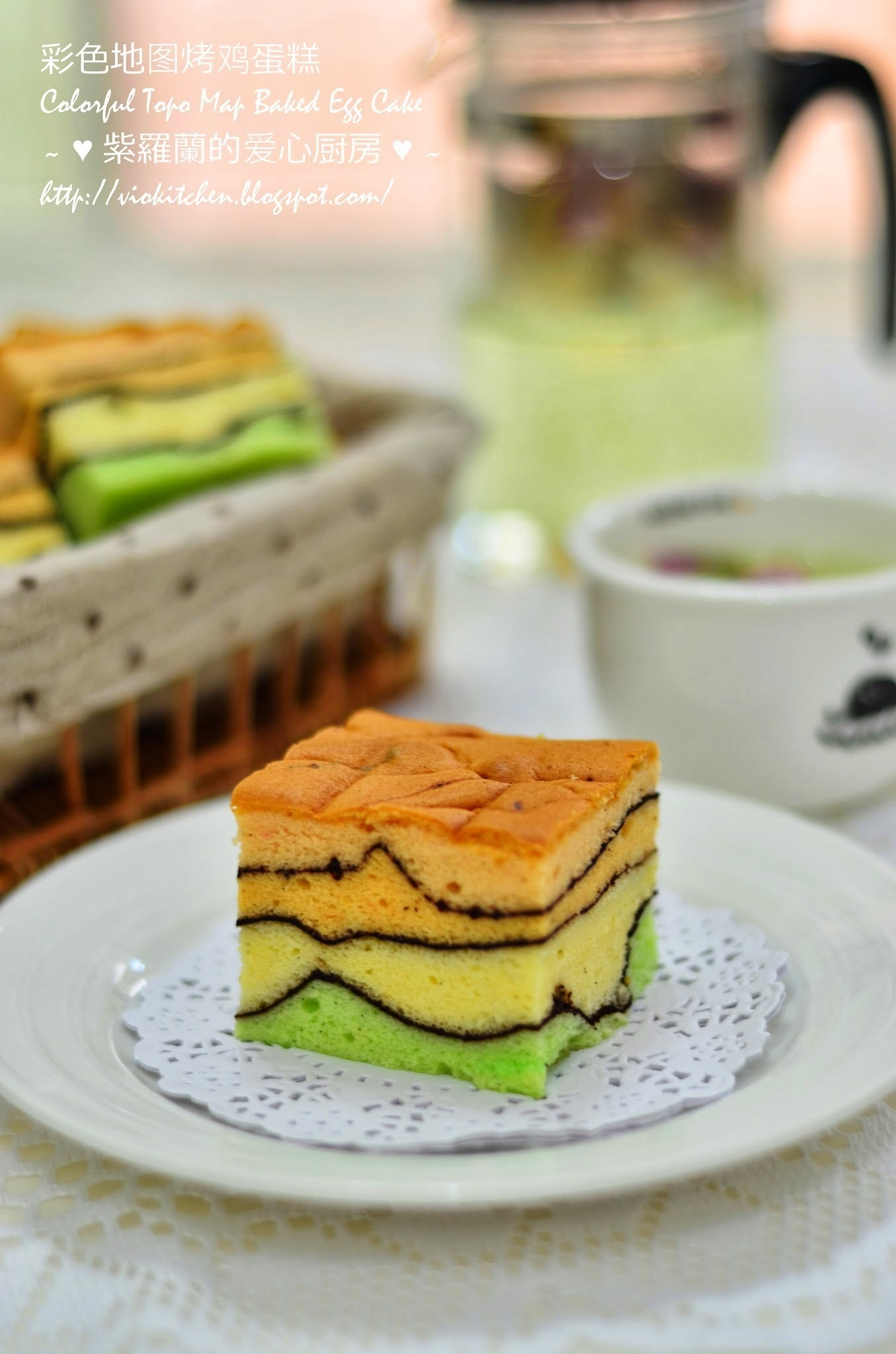 彩色地图烤鸡蛋糕 Colorful Topo Map Baked Egg Cake
