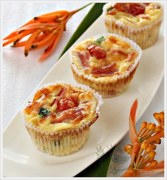 Vegetable Ham Muffins 蔬菜火腿满分