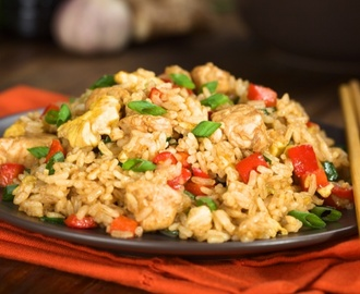 Cheater's chicken fried rice