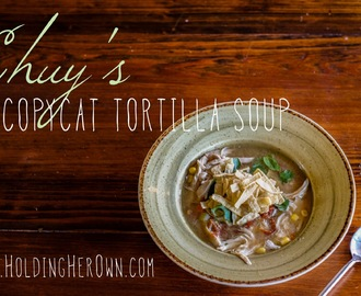 Healthy Tortilla Soup Recipe: Chuy's Copycat Tortilla Soup