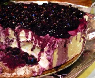 White Chocolate-Blueberry Cheesecake