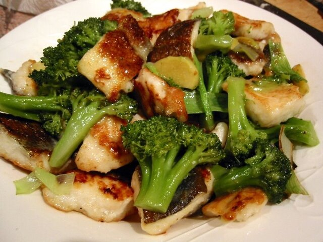 Fish Fillet with Broccoli