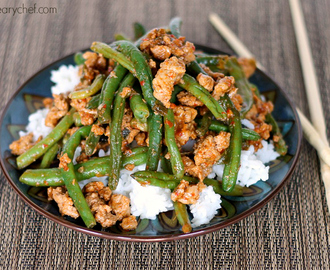 Favorite Chinese Green Beans with Ground Turkey
