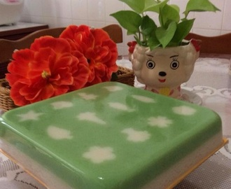 Cendol & Coconut Milk Jelly Cake 珍多椰奶燕菜蛋糕