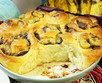 「recipe」Cheesy and Sweet Banana Rolls